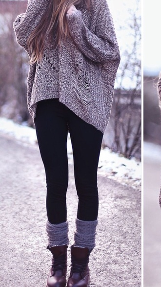 sweater oversized sweater wool grey sweater grey gray knit sweater cable knit