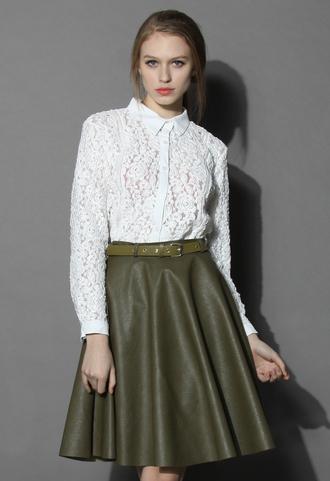 shirt chicwish top lace shirt