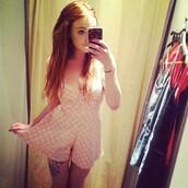 dress,romper,pink,white,print