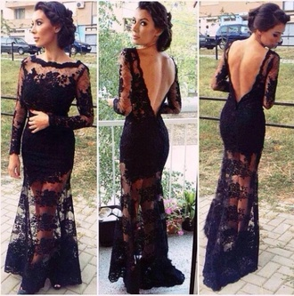 dress black dress prom dress lace