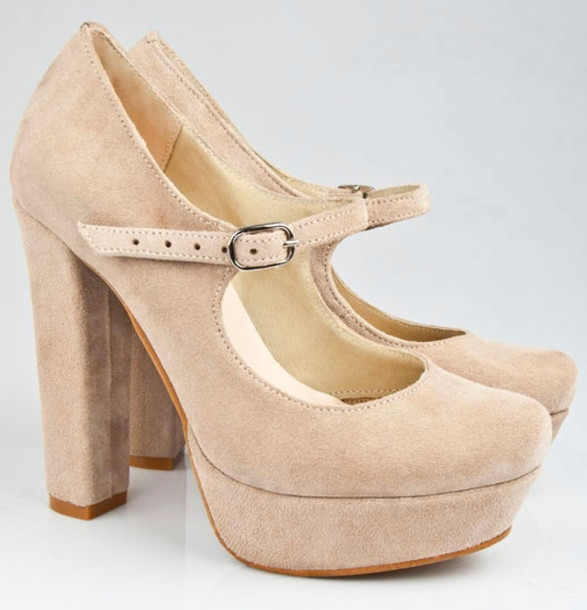 Nude Thick Heels