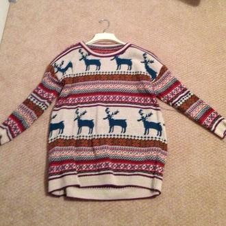 christmas sweater deer