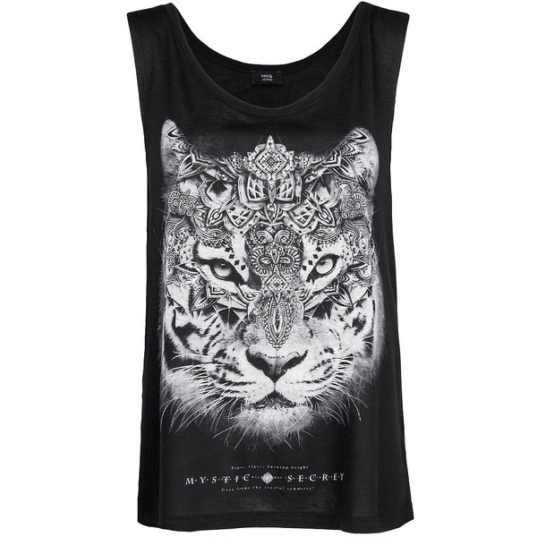 MANGO Printed tiger t-shirt - Polyvore