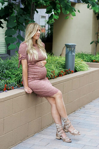 raspberry glow blogger dress shoes maternity dress maternity sandals summer outfits pink dress