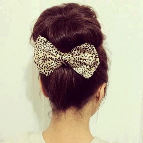 hair accessories animal print bows