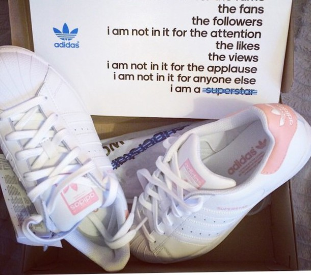 6bab0b35507 shoes white and pink adidas superstars sneakers adidas adidasoriginals  sneakers white pink white black and white