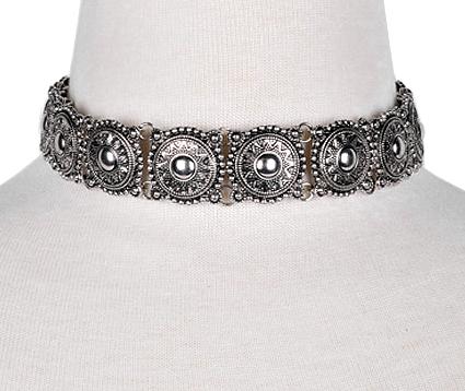 Aurora Sunburst Metal Choker Necklace