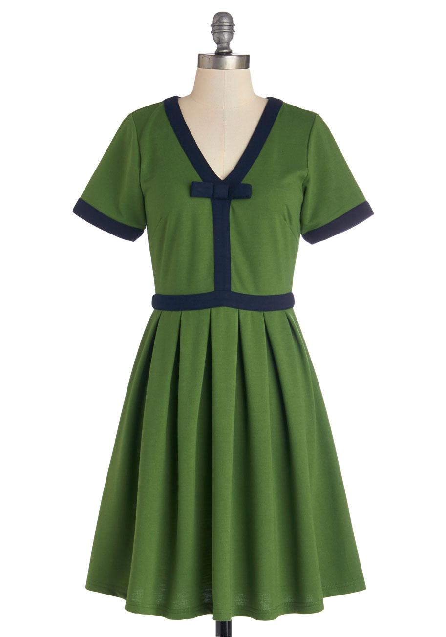 Night brunch dress in fern