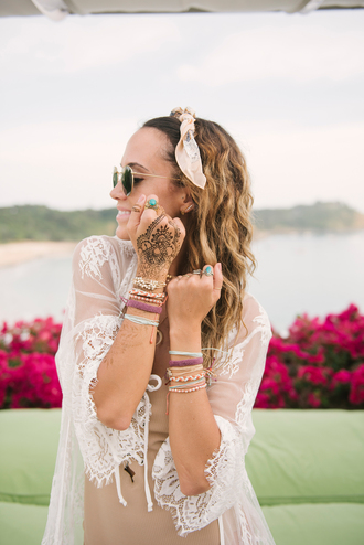 jewels tumblr bracelets accessories accessory stacked bracelets cover up dress nude dress knuckle ring ring gemstone gemstone ring sunglasses headband