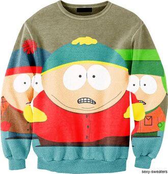sweater shouth park clothes tv show brands money television show south park eric cartman eric cartman kenny south park