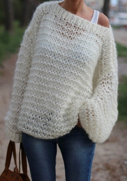 sweater off the shoulder sweater pull oversize pullover winter sweater