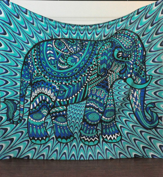 Elephant Wall Decor home accessory: elephant, hippie, tapestry, wall hanging, home