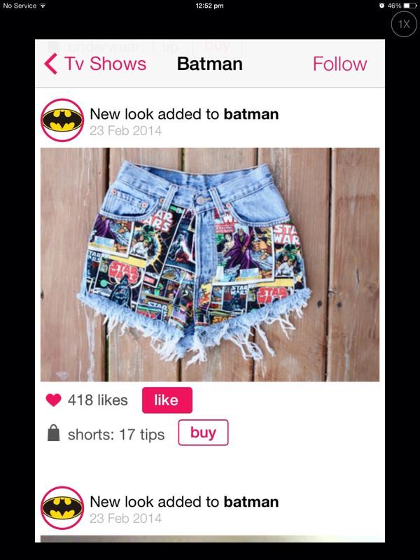 itsmeez comic shorts jeans shorts