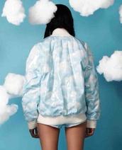 jacket,kawaii,pastel,blue,kawaii grunge