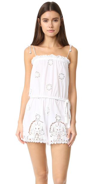 473b48bbd0 Miguelina Peggy Romper - Pure White - Wheretoget