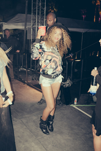 jacket coachella beyoncé color colorful colour shoes high heels shorts