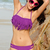 Sexy Crisscross Fringe Bikini Set - Purple  on Luulla