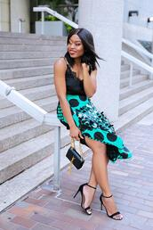 jadore-fashion,blogger,skirt,top,shoes,bag,high heel sandals,camisole,ysl bag