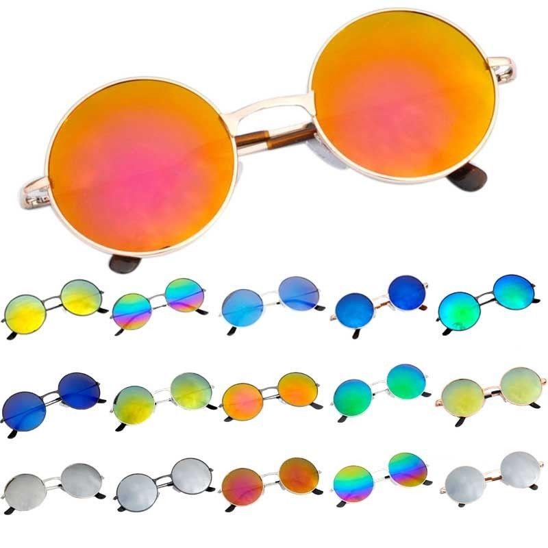 Unisex Aviator Retro Style Women's Round Silver Metal Frame Men's Sunglasses | eBay