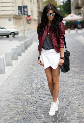 shoes sneakers jacket scorts sunglasses