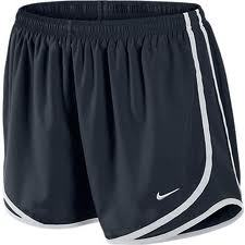 Nike new tempo track running shorts woem's size s in navy