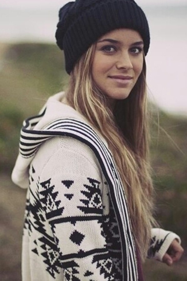 jacket tribal pattern tribal print sweater tribal pattern cardigan sweater aztec winter outfits warm beanie hat print cozy