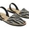 Mibo avarcas women's zebra faux print leather slingback sandals