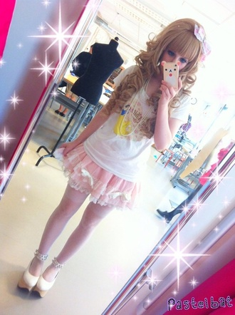 skirt fairy kei short skirt harajuku street fashion japanese fashion hat
