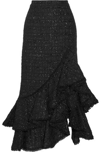 skirt metallic black