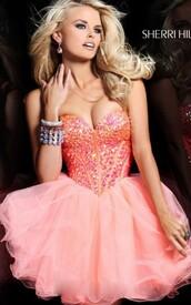 dress,pink prom dress,short prom dress,party dress,homecoming dress,sherri hill