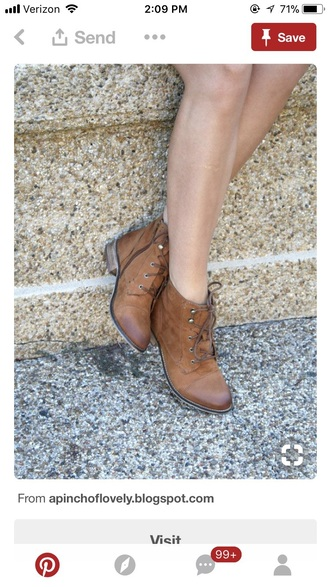 shoes brown leather boots ankle boots lace up