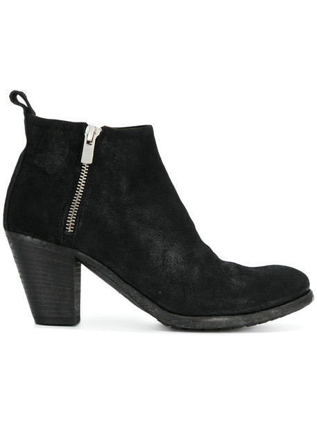OFFICINE CREATIVE women ankle boots leather suede black shoes
