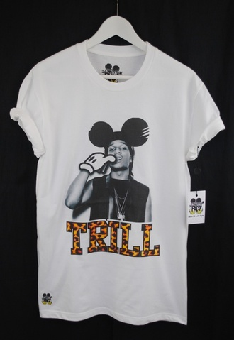 mickey mouse asap rocky trill t-shirt dope
