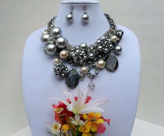 jewels wedding necklace bridesmaid necklace bib necklaces bib necklace girly girly girl eye candy statement jewelry