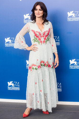 dress penelope cruz venice lace dress white dress white lace dress