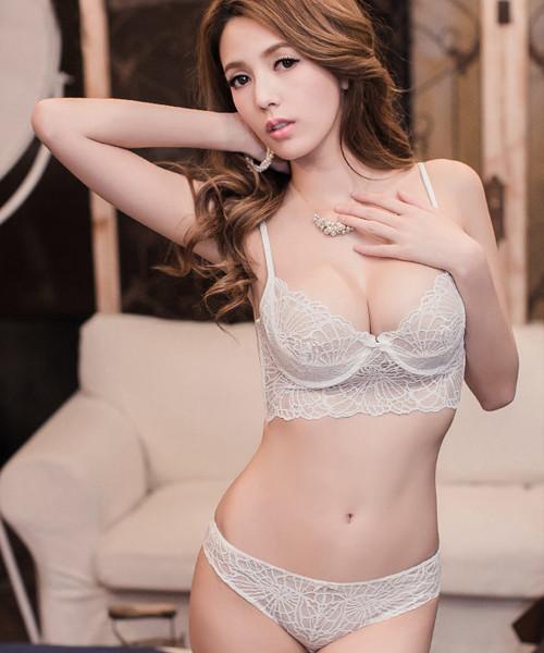 b2e88967c3f Ella Lace Unlined Longline Bralette   Panty Set (White)