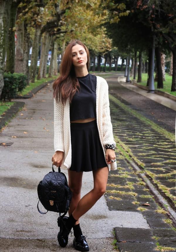 marie zamboli sweater t-shirt scarf skirt shoes jewels