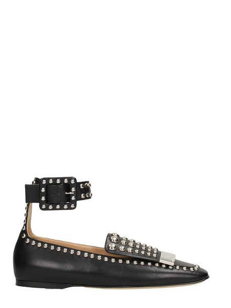 Sergio Rossi studded flats black shoes
