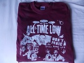 shirt,all time low,clothes,t-shirt,band t-shirt,punk,atl,music,sweater,awesome!,weather,alex gaskarth,jack barakat,don't panic,album,band merch,top