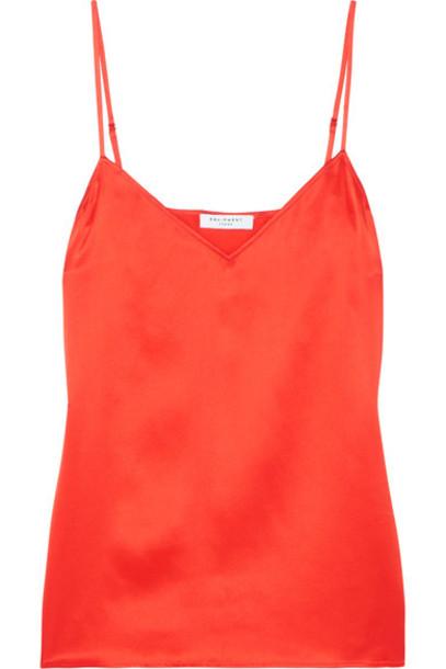Equipment camisole silk satin red underwear