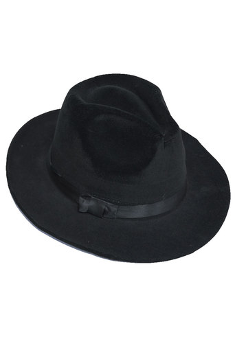 Ladies aaron trilby with ribbon trim  in black at pop couture uk