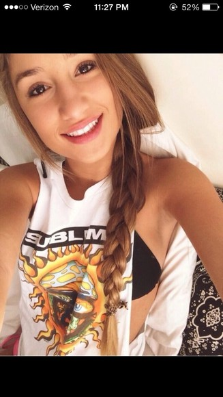 shirt white shirt savannah montano braid