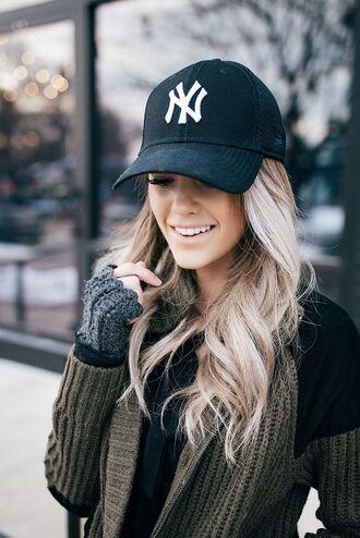 hat black cap baseball cap cap cardigan