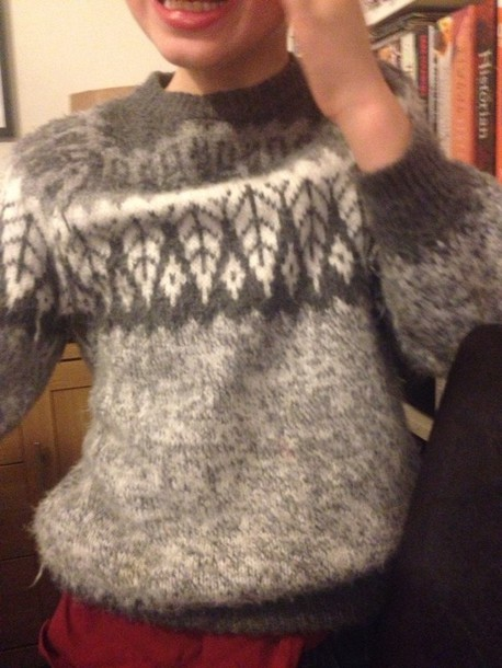 sweater grey white christmas jumper christmas sweater fluffy soft angora vintage cool