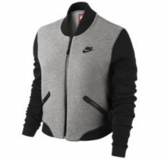 jacket nike jacket nike black and grey name please