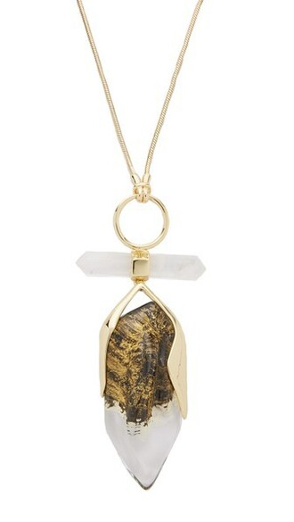 rock clear necklace pendant gold jewels