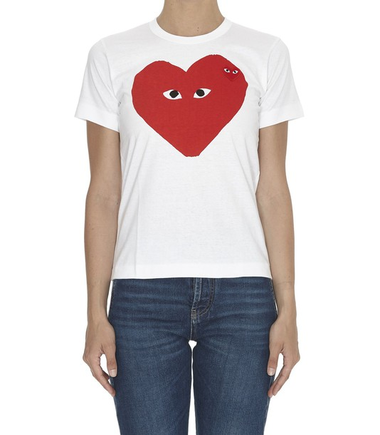 Comme Des Garcons Play white top