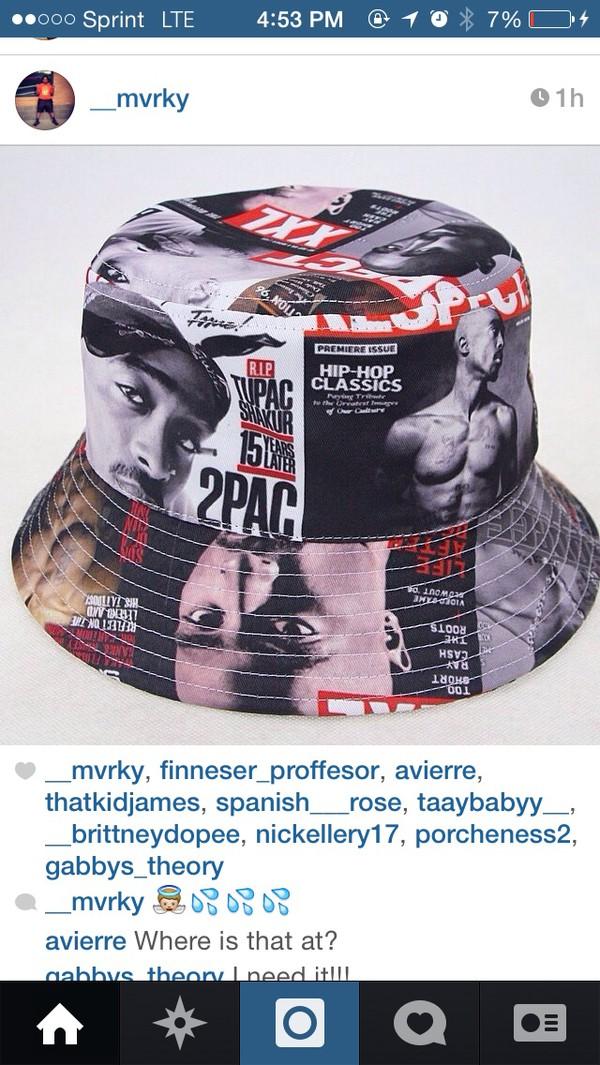 hat tupac bucket hat