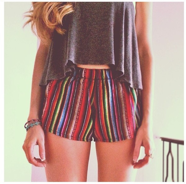 shorts brandy melville summer tumblr cute shirt multicolor