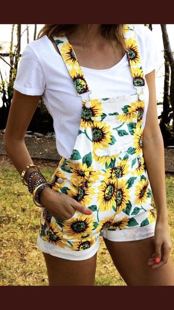 pants sunflower overalls